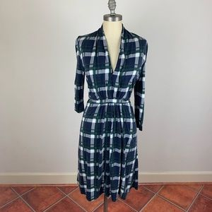 French Connection Plaid Tie Dress